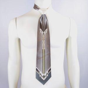 Pierre Cardin art deco necktie